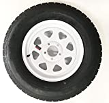 205/75R15 Radial Trailer Tire with 15″ White Spoke Rim