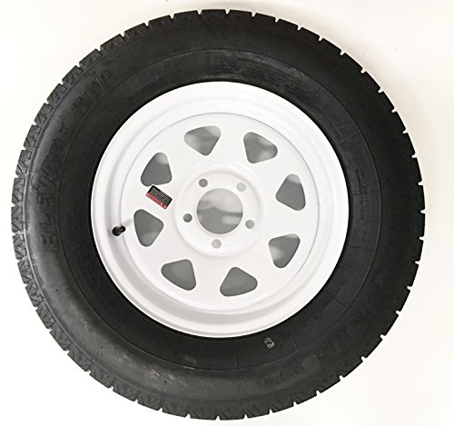 205/75R15 Radial Trailer Tire with 15″ White Spoke Rim by Tredit