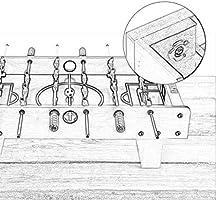 Futbol de mesa Futbolines Juegos Futbol Tablero De Fibra De Madera Mango De Textura Antideslizante. Club De Acero Inoxidable Tornillo De Fijación Seguro Y No Tóxico Regalo para Niños Futbolines: Amazon.es: Hogar