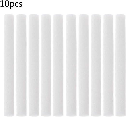 goodluccoy 10 Piezas 8 mm x 70 mm humidificadores filtros hisopo ...