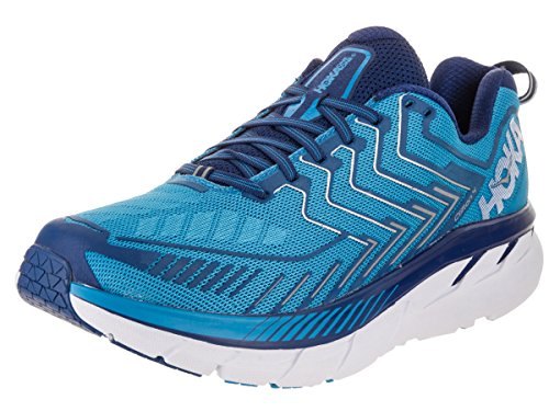 Hoka One One Mens M Clifton 4 Diva / Blauw / True / Blue Hardloopschoen 12 Heren Us