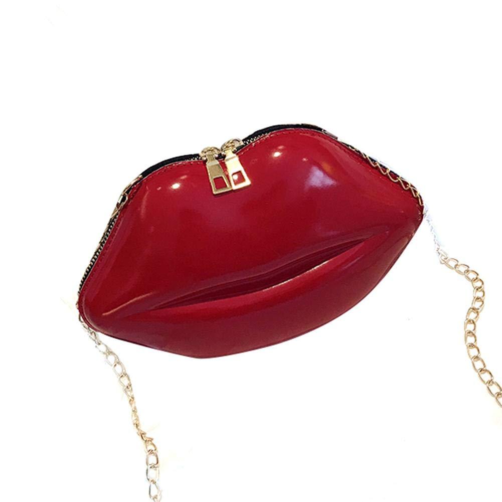 greatdaily Bolso de Bandolera para Mujer Labios creativos Forma Bolso Divertido del l/ápiz Labial Bolso del Ocio para los tel/éfonos celulares cosm/éticos Carteras