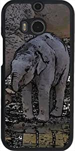 Funda para Htc One M8 - Bebé Elefante Toony by More colors in life