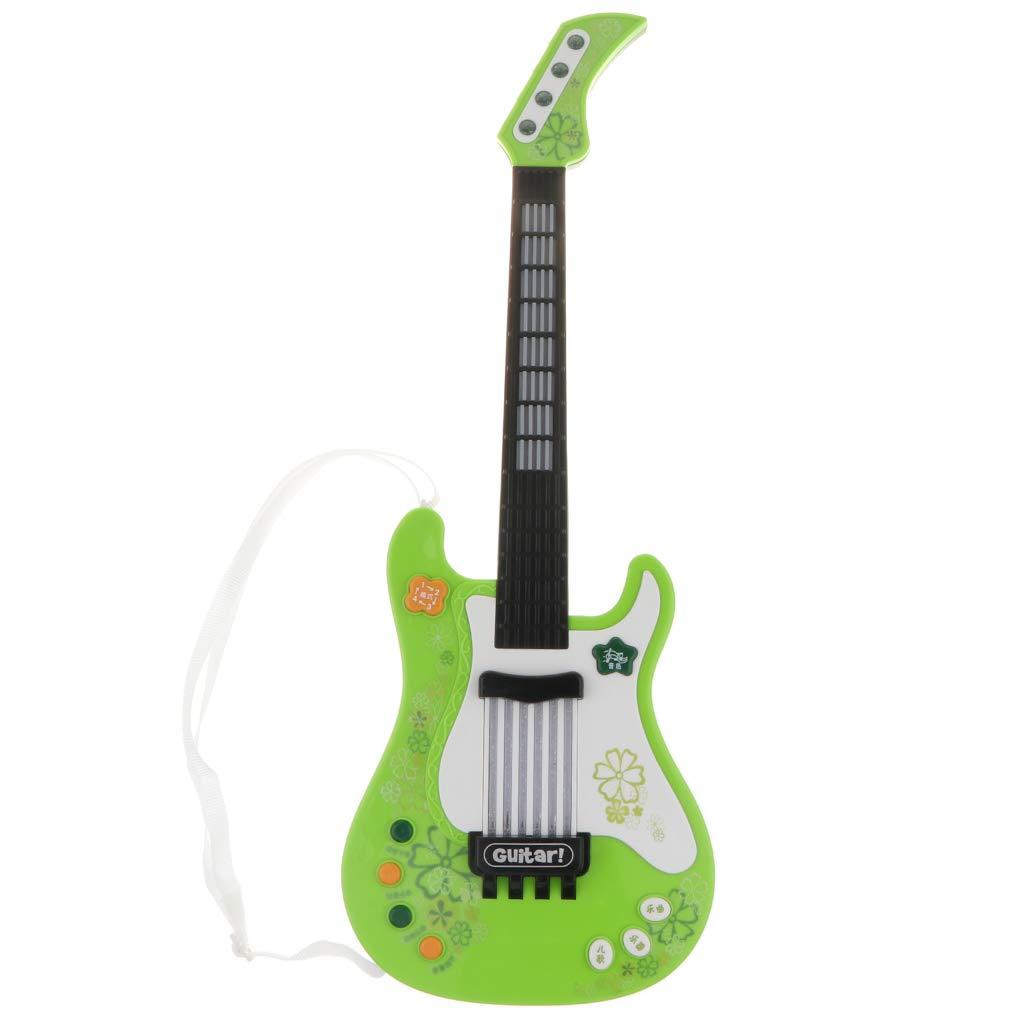 KESOTO Juguete de Instrumento Musical de Guitarra Eléctrica Regalo de Cumpleaños Navidad para Niños - Verde: Amazon.es: Juguetes y juegos
