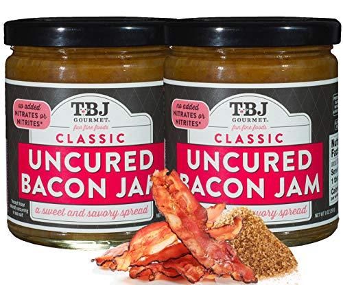 TBJ Gourmet Classic Bacon Jam  Original Recipe Bacon Spread  Uses Real Bacon No Preservatives  Authentic Bacon Jams  2 x 9 Ounces