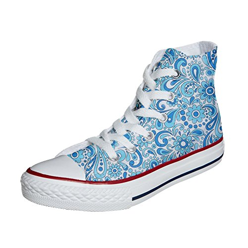 Artisanal Chaussures Converse Customized Coutume Produit Paisley Happy mys Adulte f6YgAaxq