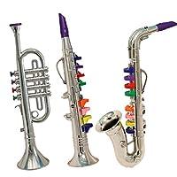 Set of 3 Music 1. Clarinet 2. Saxophone 3. Trumpet, Combo