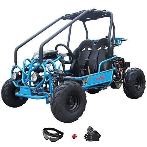 X-Pro 125cc Go Kart Dune Buggy Kids Gokart Child Go Kart 125 Gokart with Gloves and Google(Black)