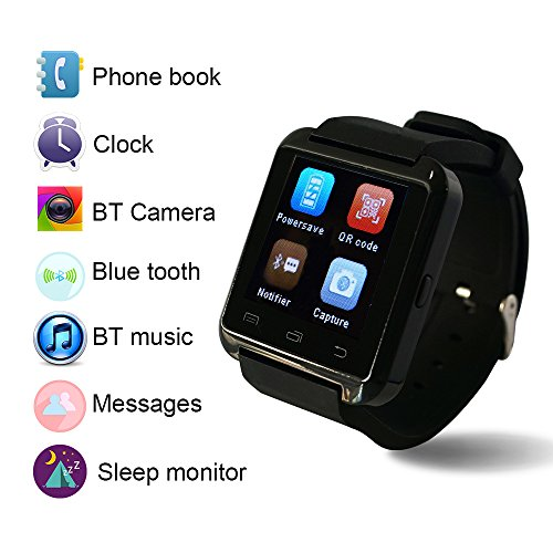 WAVEFULL móvil U8 Reloje SmartWatch Bluetooth 3.0 Muñequera de silicona para Apple iOS iphone teléfono inteligente 4 / 4S / 5 / 5C / 5S / 6 Android Samsung ...