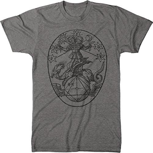 Vintage Alchemy Symbol Rebis Men's Modern Fit Tri-Blend T-Shirt (Premium Heather, - T-shirt Tri Symbol Blend