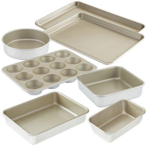 American Kitchen Cookware 7-Piece Nonstick Bakeware Set