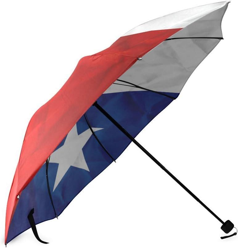 Custom Texas State Flag Compact Travel Windproof Rainproof Foldable Umbrella