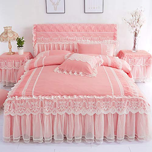 Amazon.com: WHoIppRmOrella Lace Bedding Bed Skirt ...