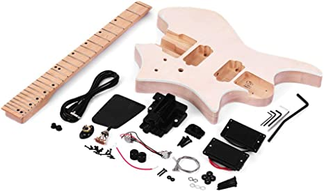 Festnight DIY Kit de Guitarra Eléctrica, Sin Terminar Guitarra Kit ...