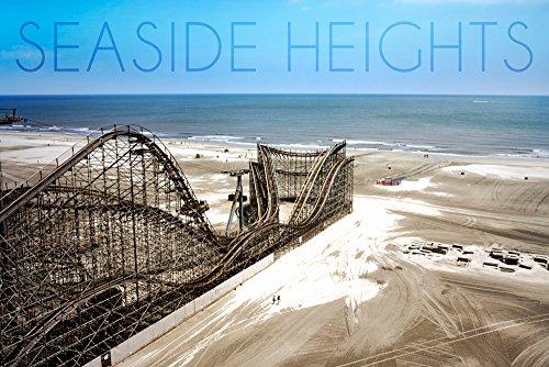 Seaside Heights - Roller Coaster Construction 1 (9x12 Art Print, Wall Decor Travel Poster)