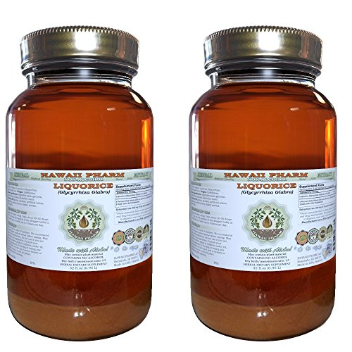 Liquorice Alcohol-FREE Liquid Extract, Organic Liquorice Glycyrrhiza Glabra Dried Root Glycerite 2×2 oz