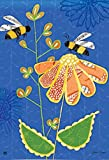 Buzz Bees Summer House Flag Decorative Floral Mini BreezeArt Banner 28″ x 40″