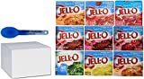 Jell-O Sugar Free Gelatin Sampler Bundle (Pack Of All 9 Different Flavors 0.30-oz) In Gift Box Plus Bonus Color Changing Spoon