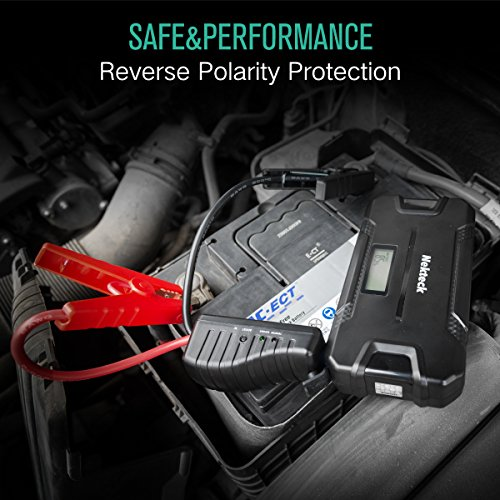 Nekteck Car Jump Starter Portable Power Bank External Battery Charger 500A Peak with 12000mAh - Emergency Jump Pack Auto Jumper for Sedan Van SUV Boat Smartphone USB Device and More by Nekteck (Image #4)'