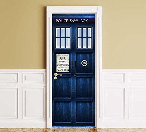 tardis door sticker - 3