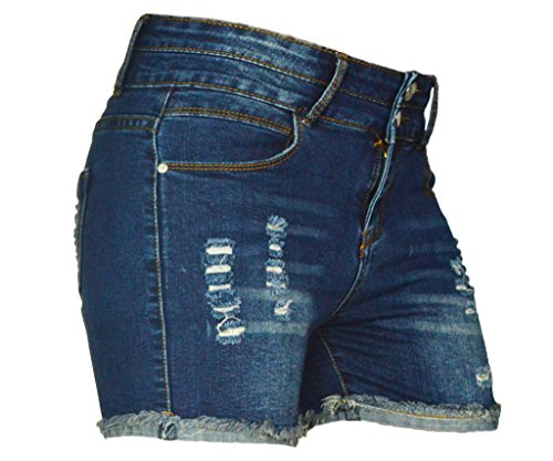 PHOENISING Women's Sexy Stretchy Fabric Hot Pants Distressed Denim Shorts,Size 2-16 by PHOENISING (Image #3)