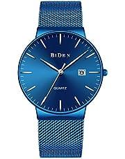 SUNWH Watches,Men's Fashion Slim Minimalist Waterproof Watch Analogue Quartz Watches Date