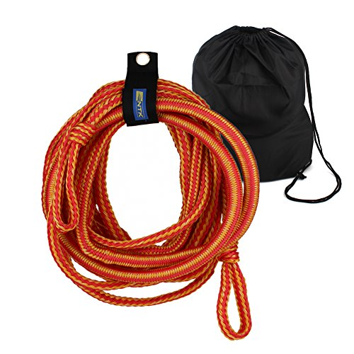 Shiningeyes 50 feet Wakeboarding Lines Wakeboard Rope Waterskiing & Towsports Tow Rope with Storage Bag