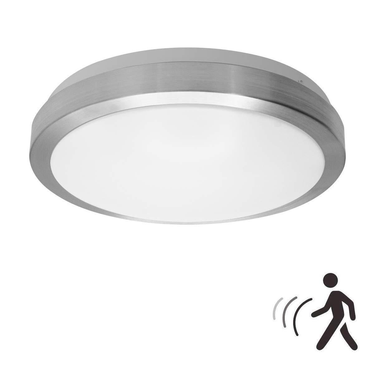 18W PIR LED Luz techo, noche de lámpara de pared con sensor de ...