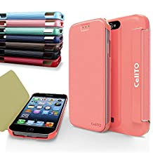 iPhone 4S Case, Cellto MOZ Sophisticated Case [Ultra Slim] Flip Cover for Apple iPhone 4S or iPhone 4 - Baby Pink