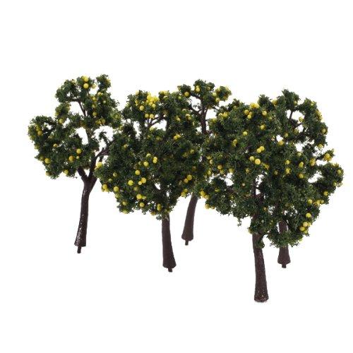 Scenario 10pcs Modello Paesaggio Decorazione Alberi Da Frutta Gialla 12 Centimetri Generic