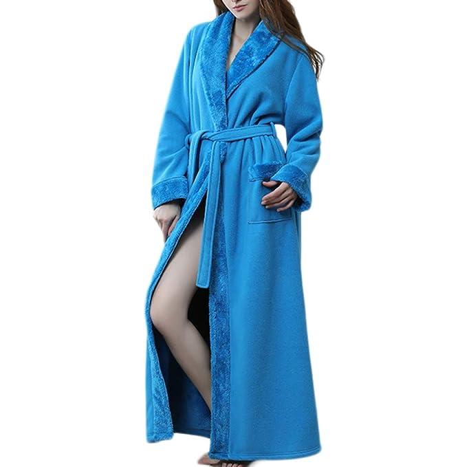 Bata De Mujer Alargar El Camisón Engrosar Albornoz Unisex Pijamas Abrigos Calientes: Amazon.es: Ropa y accesorios