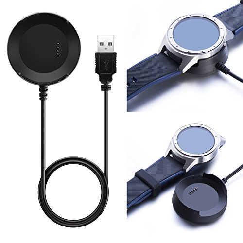 for ZTE Quartz Charger Replacement 3.3ft USB Charger Charging Cable/Charging Base for ZTE Quartz Smartwatch (Black)