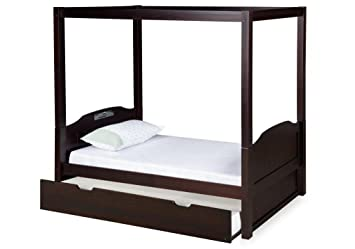 Expanditure Twin Canopy Bed With Twin Trundle - Panel Style - Cappuccino  sc 1 st  Amazon.com & Amazon.com: Expanditure Twin Canopy Bed With Twin Trundle - Panel ...