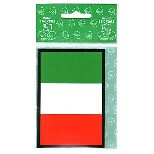 Tri Colour Rectangle St. Patrick's Day Flag Sticker