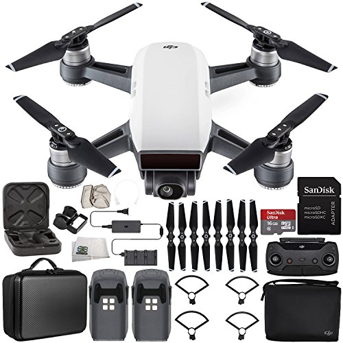 DJI Spark Portable Mini Drone Quadcopter Fly More Combo Portable Bag Shoulder Travel Case Bundle (Alpine White) by SSE