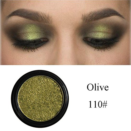 Roysberry EyeShadow,Makeup Eyes Metallic Multi Shiny Color, Beauty Pearls Powder, Eye Shadow Palettes Lady Makeup Small Color Round Colors Eye Shadow Baked Palettes (Olive) (Olive High 1 Cream Pigment)