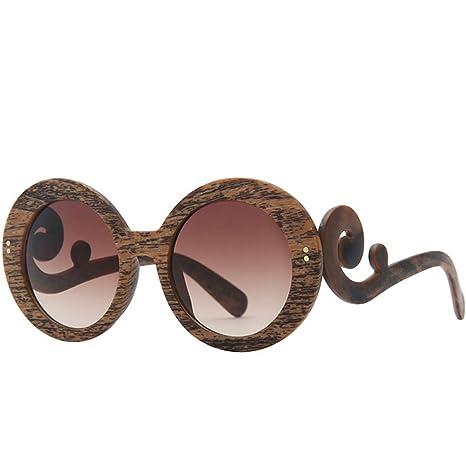 Z&HA - Gafas de Sol con Estructura Redonda de imitación de ...