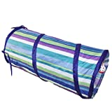 New Cat Tunnel Play Fun Toy with Ring Bell 3 Colors Kitten Toys (Blue), My Pet Supplies