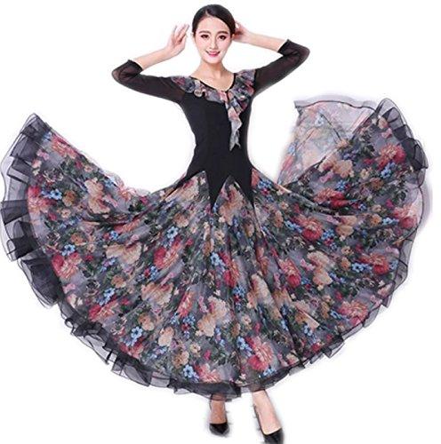 【名入れ無料】 garuda 社交ダンス モダン モダン B075BH5Y3H 優しい花柄レディースロングワンピース ダンス練習服 可愛い サイズオーダー可 B075BH5Y3H garuda サイズM, dress code:86280caa --- a0267596.xsph.ru
