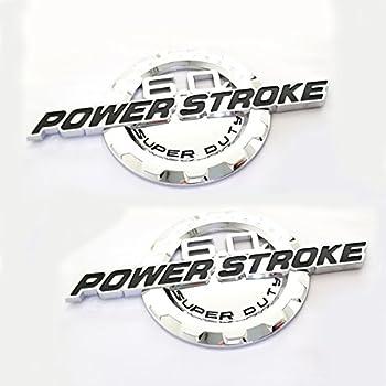 Chrome//Red//Black 1Pcs 6.0L PowerStroke Intercooled Turbo Diesel Truck SuperDuty Badge 3D Emblem