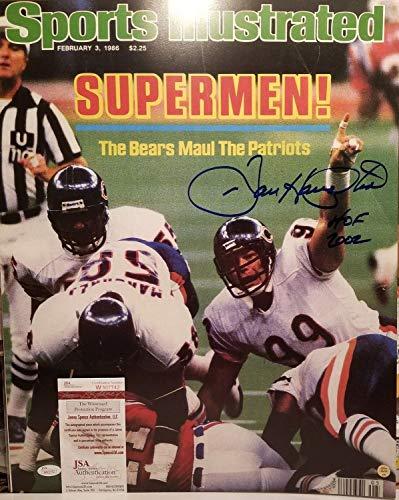 (Dan Hampton Autographed Signed Memorabilia 16X20 Sports Illustrated Cover Photograph Insc JSA Witnessed COA)