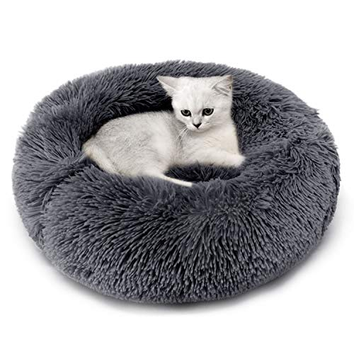 Legendog Katzenbett, Plüsch Weich Runden Katze Schlafen Bett/Klein Hund Bett/Haustierbett/katzenbettchen/Betten für…