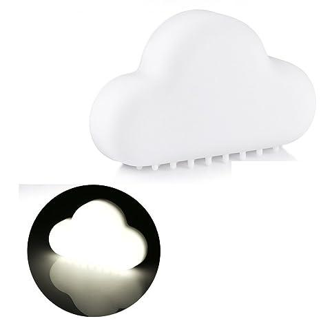 LightsGoal LED luz nocturna, sensor de movimiento aplique, recargable nube luces de la noche