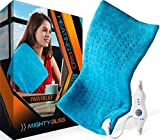 "MIGHTY BLISS™ Large Electric Heating Pad for Back Pain and Cramps Relief -Extra Large [12""x24""] - Auto Shut Off - Heat Pad with Moist & Dry Heat Therapy Options - Hot Heated Pad"