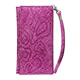 Jo Jo A5 Bali Leather Wallet Universal Pouch Cover Case For Samsung Galaxy Ace 3 LTE Exotic Pnk