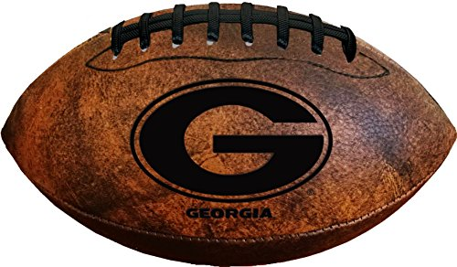 Evergreen NCAA Georgia Bulldogs Vintage Throwback Football, 9-inches