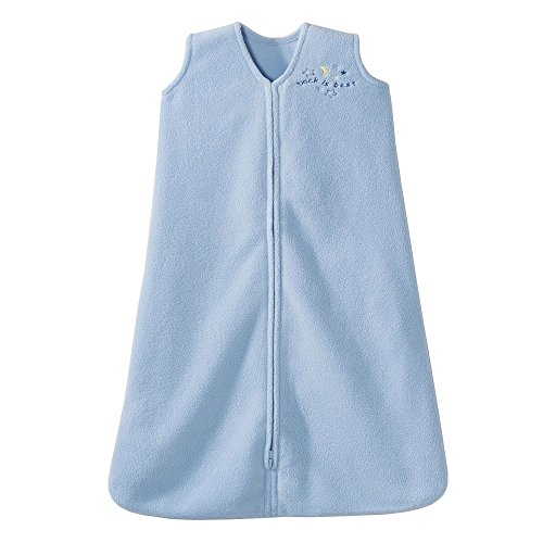 HALO Sleepsack Micro-Fleece Wearable Blanket, Baby Blue, Medium -