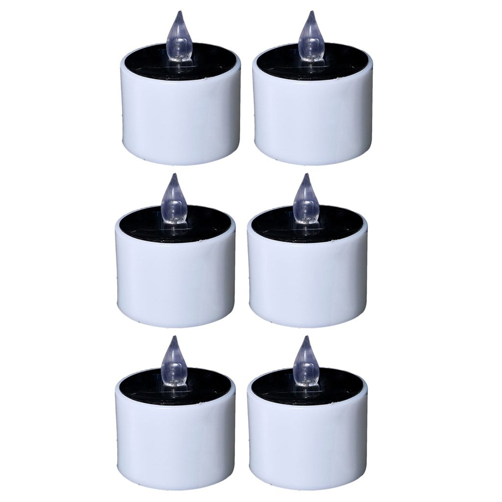 Fityle Flameless Solar Tealight Candles for Camping, Home, Window, Yard Decor in White by Fityle (Image #3)