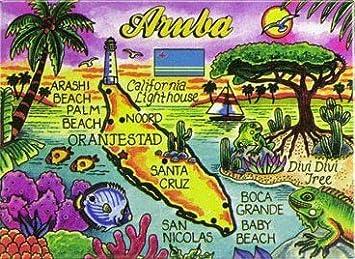 Aruba Karte Karibik.Aruba Karte Der Karibik Collector Souvenir S Fridge Magnet 6 35 Cm X 8 89 Cm