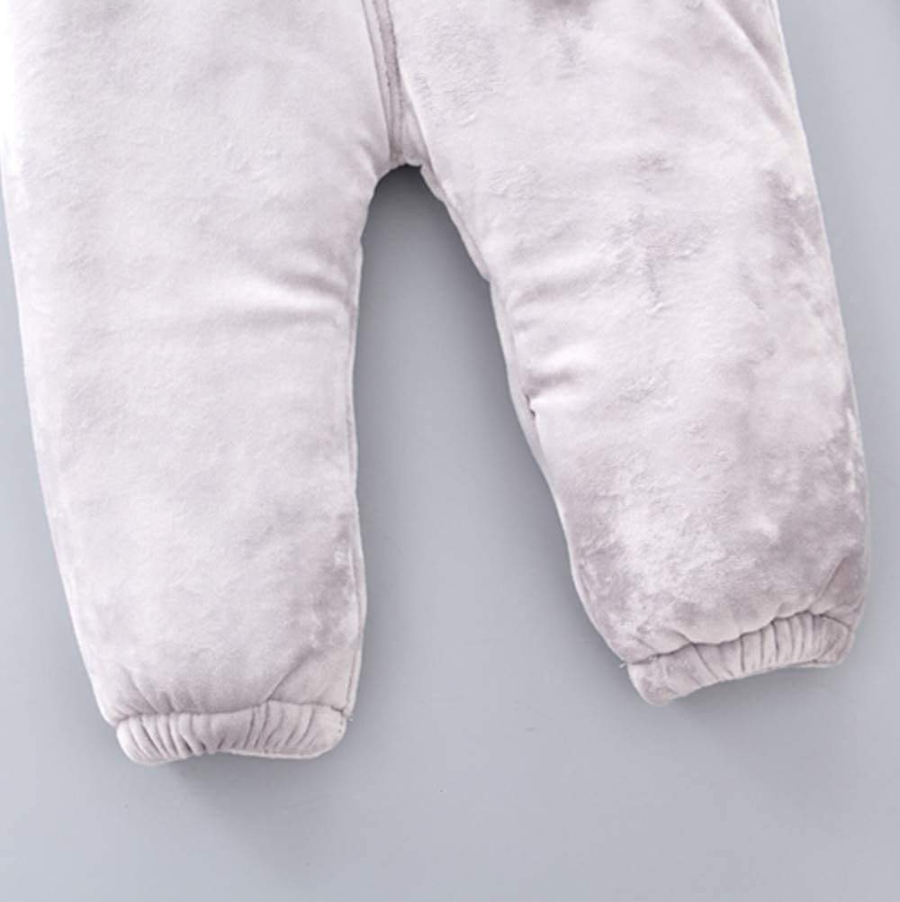 Toddler Baby Boys Girls 6 Months-3T Solid Cartoon Rabbit Thick Warm Pants Clothes Outfits